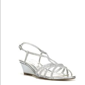 Touch of Nina Shoes - Nina Silver Wedges Size 8 Holiday or Wedding
